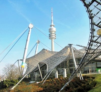 Olympiaturm, Olymiadach, Olympiapark, Olympische spiele 1972, München, Munich, Olympic park,Olympia park, olympic games 1972, guided tours, local guide, Ilona Brenner, Munich, Germany, Bavaria, sight seeing, coach tours, bus tours, walking tours,