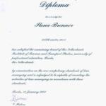 Tour Manager certificate, Certificate NHTV, Garden Guide Bavaria