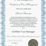 Tour Manager certificate, Certificate NHTV, Garden Guide Bavaria, guide tour Manager qualification